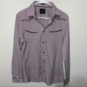 Guess Los Angeles Slim Fit Button Down PJ Top